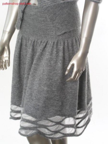 Pleated jersey skirt with decorative intarsia hem / Rechts-Links Faltenrock mit dekorativem Intarsiasaum