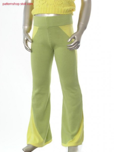 Jersey children's trousers with tubular waist / Rechts-LinksKinderhose mit Schlauchbund