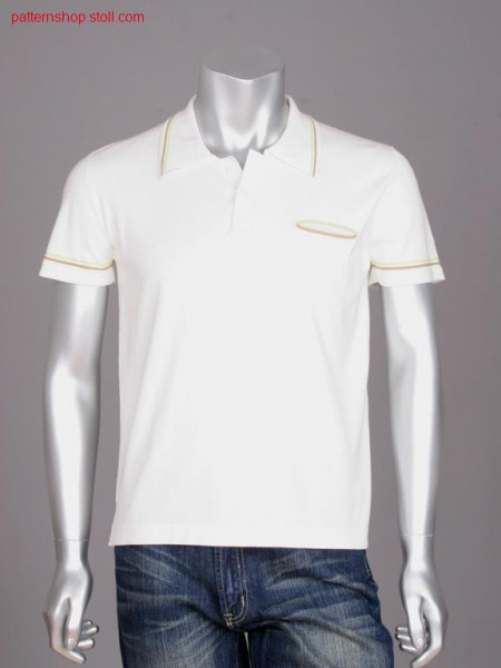 FF-jersey polo shirt with stripes / FF-Rechts-Links Polohemdmit Ringel