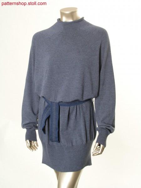 Oversized jersey fair isle pullover /