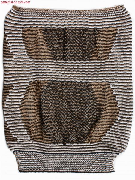Striped swatch in jersey cast-off structure / Geringelter Musterausschnitt in Rechts-Links Abwerfstruktur