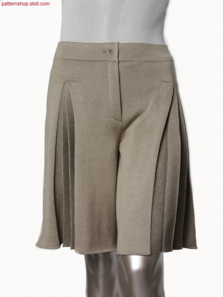 Plated jersey Fully Fashion pant skirt / Plattierter Rechts-Links Fully Fashion Hosenrock