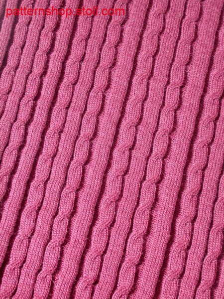 Rib pattern with 3x2 cables / Rippenmuster mit 3x2 Z