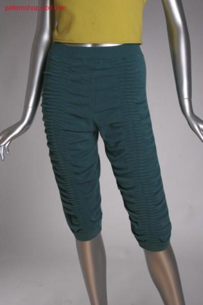 FF-jersey knee breeches with seersucker structure / FF-Rechts-Links Kniehose mit Seersucker-Struktur