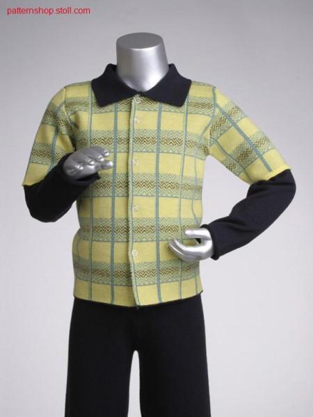 Fully fashion jacquard children's cardigan / Fully Fashion Jacquard Kinderstrickjacke