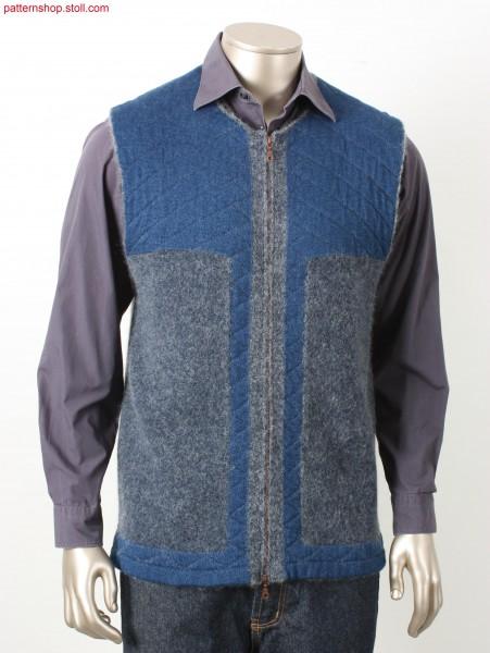 Felt-like plated Fully Fashion waistcoat / Felt-like plated Fully Fashion waistcoat