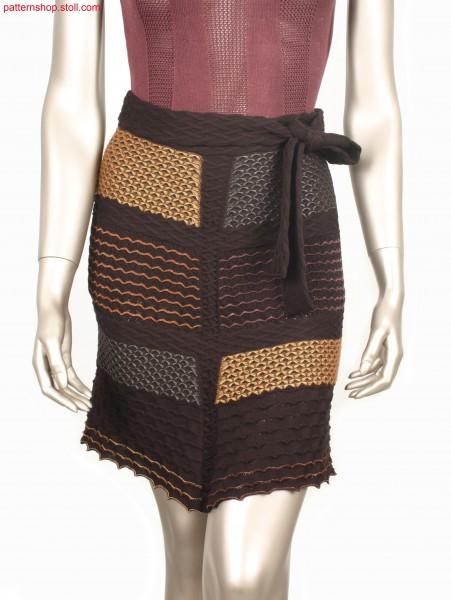 Sharp-ending Fully Fashion mini skirt / Spitz zulaufender Fully Fashion Minirock