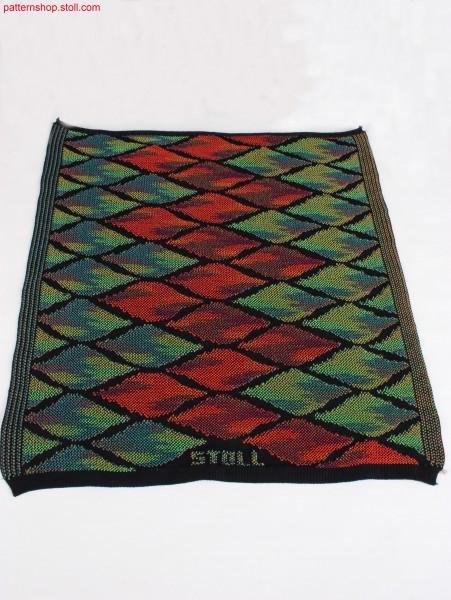 Rhombic design in multi-colour intarsia / Rautenmusterungin mehrfarbiger Jacquardstruktur