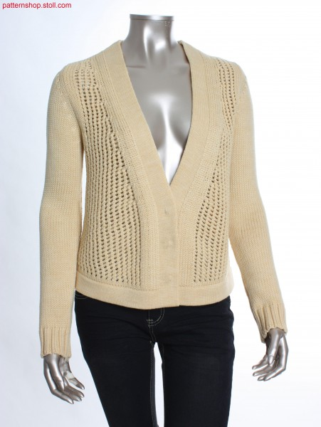 Fully Fashion cardigan with pointelle structure / Fully Fashion Strickjacke mit Petinetstruktur