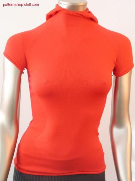 Short-sleeve raglan pull. knitted with all needles / Kurzarm Raglanpull. mit allen Nadeln gestrickt