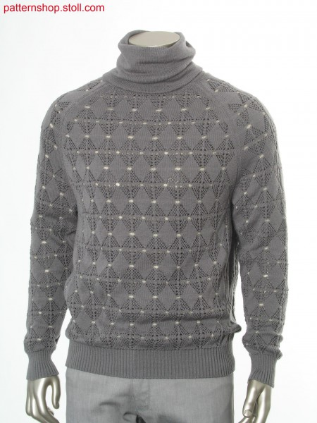 Reversible Fully Fashion pullover in 1x1 Technik / Fully Fashion Wendepullover in 1x1 Technik
