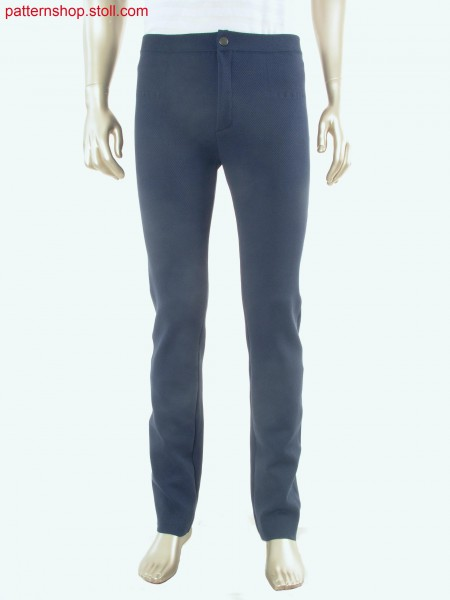 Fully Fashion jeans in tubular-structure fabric / Fully Fashion Jeans in Schlauch-Strukturgestrick