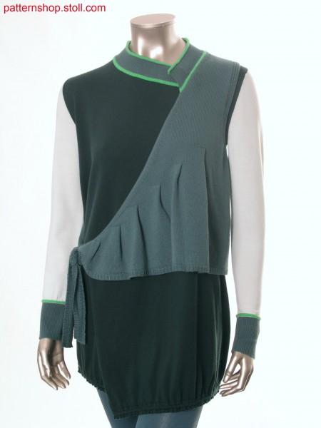 Fully Fashion jersey wrap-over cardigan / Fully Fashion Rechts-Links Wickelstrickjacke