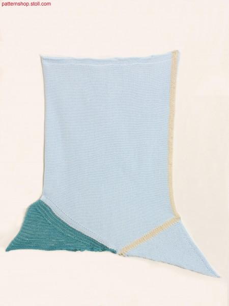 Swatch, crosswise to knit direction / Musterausschnitt mitMaschenverlauf quer zur Strickrichtung