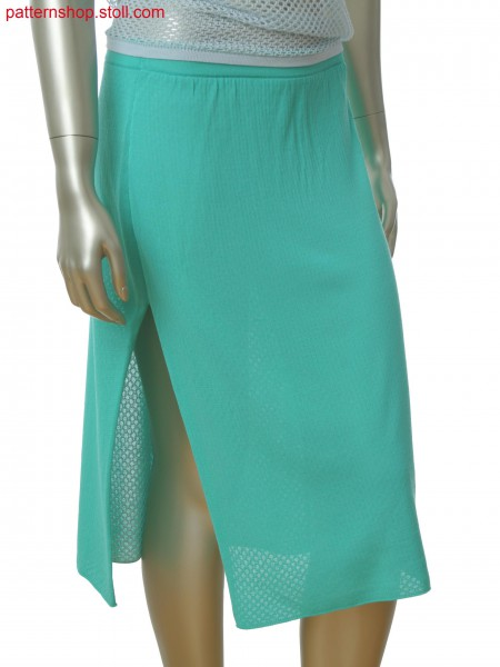 Fully Fashion skirt with one side slit and lace structure