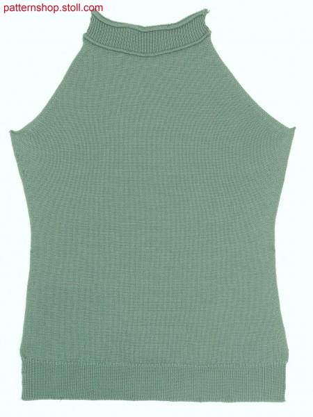 Fully Fashion jersey front with round neck / Fully FashionRechts-Links Vorderteil mit Rundhals-Ausschnitt