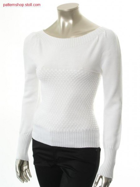 Pullover in carmen style with puff sleeves / Pullover im Carmenstil mit Puff