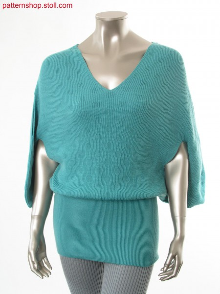 Convertible garment in half cardigan structure / WandelbaresKleidungsst