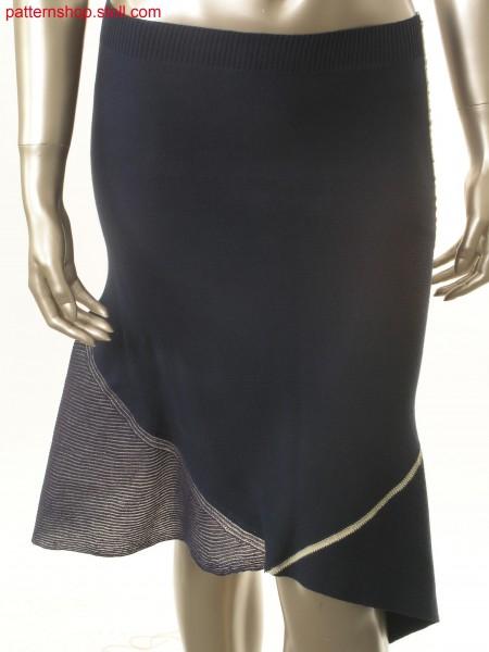 Jersey skirt, crosswise to knitting direction / Rechts-Links Rock mit Maschenverlauf quer zur Strickrichtung