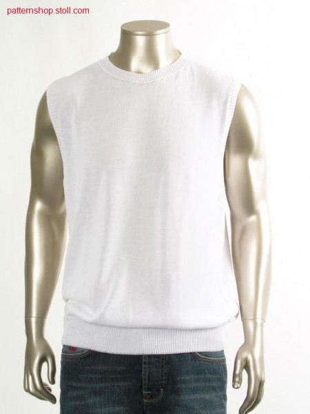 Jersey slipover with french shoulder / Rechts-Links Pullunder mit franz
