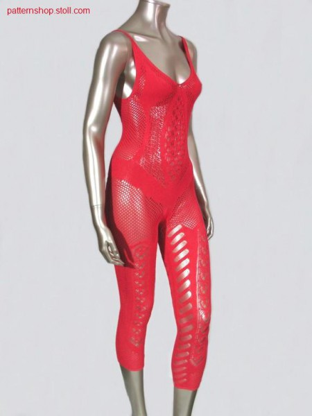Cat suit with pointelle and tuck stitch structures / Cat suitmit Petinet und Fangstrukturen.