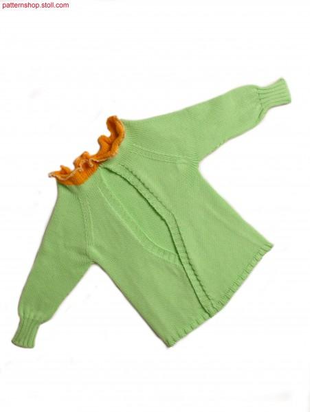 Jersey baby-wrap-around cardigan / Rechts-Links Baby-Wickelstrickj