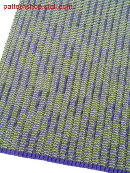 Striped 4x3 rib fabric with graphic effect / Geringeltes 4x3 Rippgestrick mit Graphik-Effekt