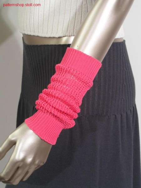 Arm warmer in pointelle structure / Armstulpe in Petinetstruktur