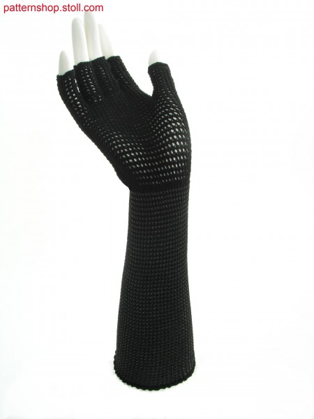 Half-finger gloves with pointelle structure / Fingerlinge mit Petinetstruktur