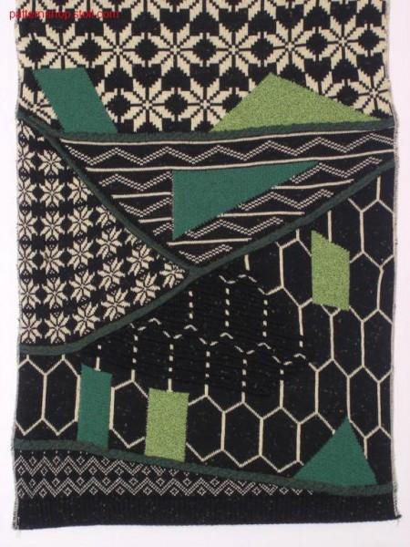 2-colour jacquard pattern in gore technique / 2-farbiges Jacquardmuster in Spickeltechnik