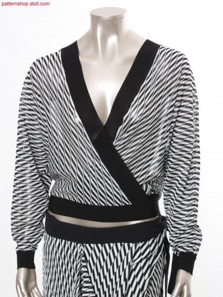 Fully Fashion wraparound cardigan with batwing sleeves  / Fully Fashion Wickelstrickjacke mit Fledermaus