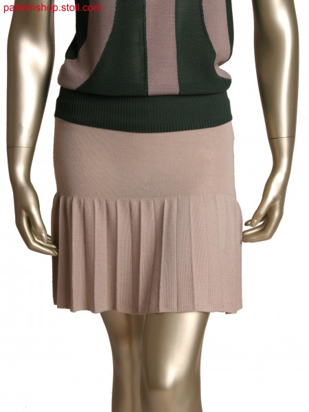 Fully Fashion double jersey skirt, accordion pleats