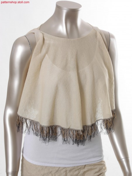Fully Fashion jersey cape with fringes / Fully Fashion Rechts-Links Cape mit Fransen