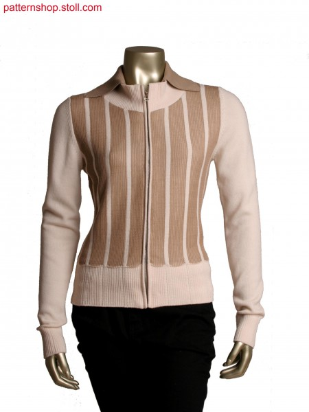 Fully Fashion cardigan with cross tubular, floating at theback, detachable inside collar