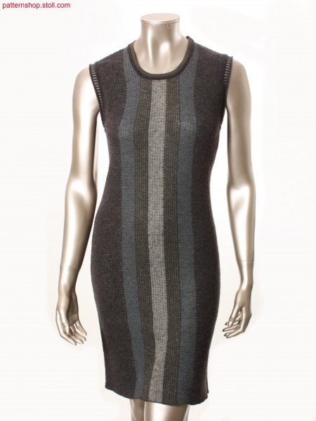 Sleeveless dress in jacquard  transfer structure /