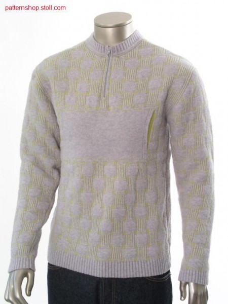 Fully fashion pullover in 2-colour jacquard structure / Fully Fashion Pullover in 2-farbiger Jacquardstruktur