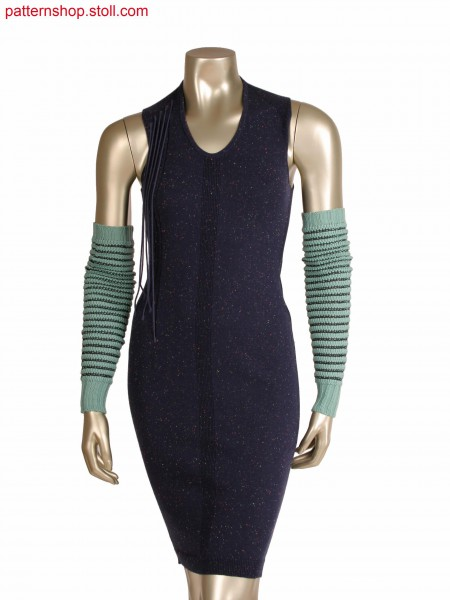 Fully Fashion dress with 1X1 rib detail, integrated straps