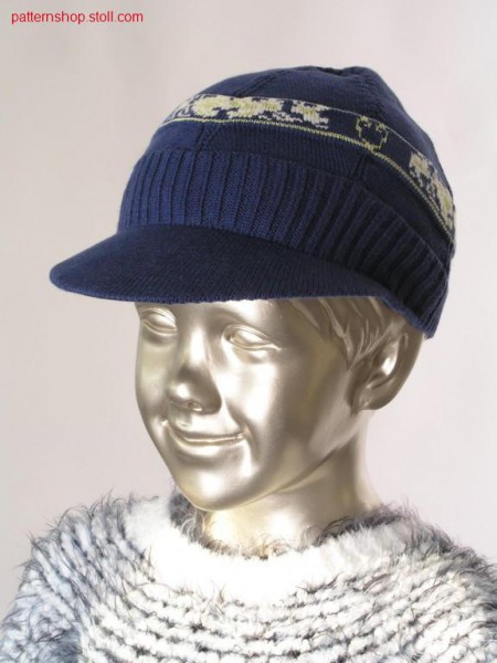 Peaked cap with 3-colour jacquard / Schirmm