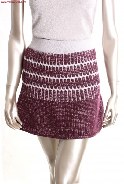 Fully Fashion skirt with initial row in manual work look /Fully Fashion Rock mit Anfangsreihe in Handarbeitsoptik