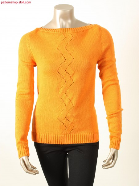 Fully Fashion jersey pullover / Fully Fashion Rechts-LinksPullover