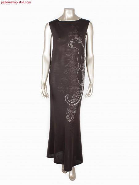 Sleeveless Fully Fashion jersey dress with cheetah motif /