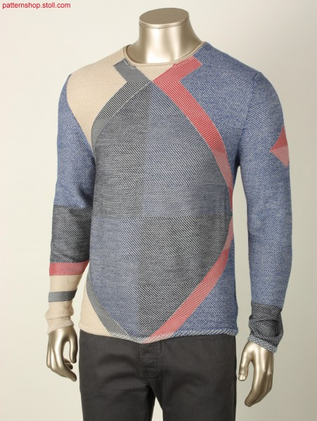 Fully Fashion boyfriend pullover with geometric design / Fully Fashion Boyfriend-Pullover mit Rautenmusterung