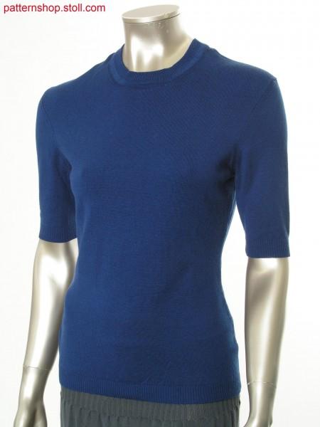Plated Fully Fashion short-sleeved jersey pullover / Plattierter Fully Fashion Rechts-Links Kurzarmpullover