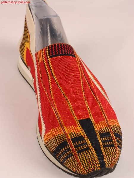Shoe-upper with different 2-colour jacquard structures / Schuhoberteil mit verschiedenen 2-farbigen Jacquard-Strukturen