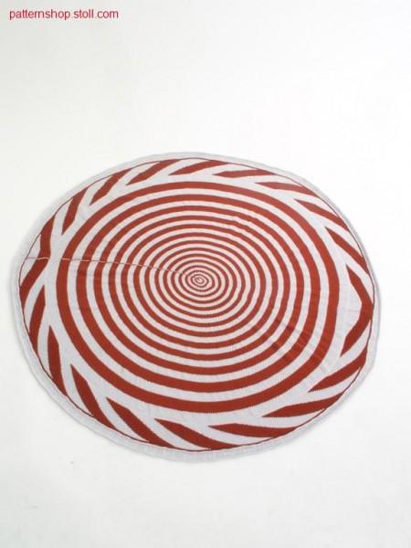 Ringed jersey pillowcase with concentric circles / Geringelter Rechts-Links Kissenbezug mit konzentrischen Kreisen