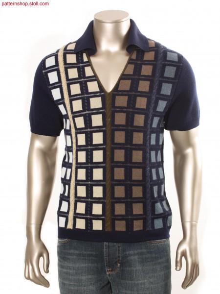 Fully Fashion-intarsia short-sleeved pullover / Fully Fashion-Intarsia Kurzarmpullover