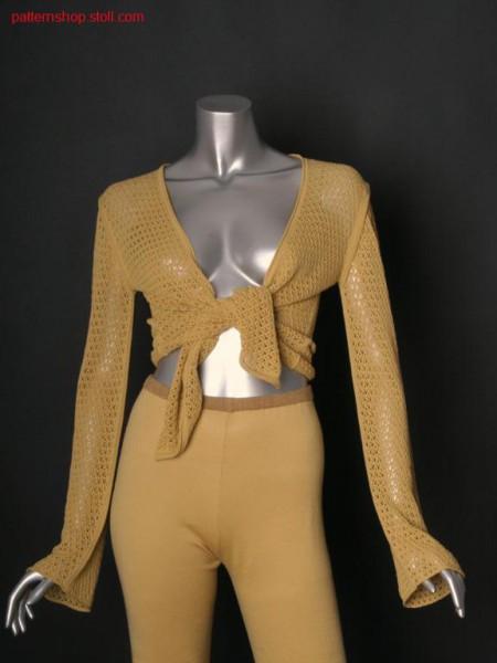 Fully fashion jersey wraparound cardigan / Fully Fashion Rechts-Links Wickelstrickjacke