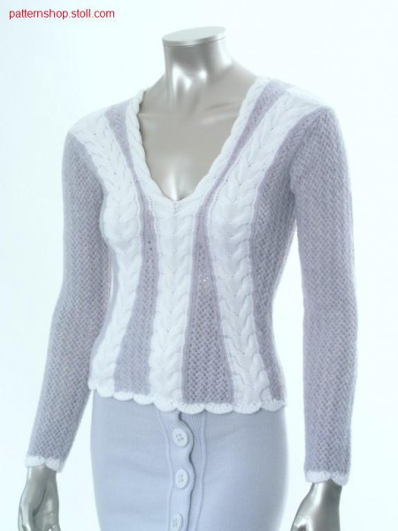 Fitted FF-Intarsia pullover with inserted sleeves / Taillierter FF-Intarsia Pullover mit eingesetzten