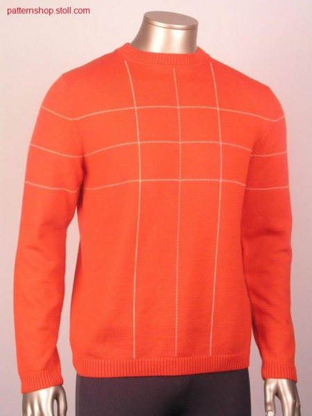 FF-intarsia pullover in lock stitch optic / FF-Intarsia Pullover in Steppstich Optik