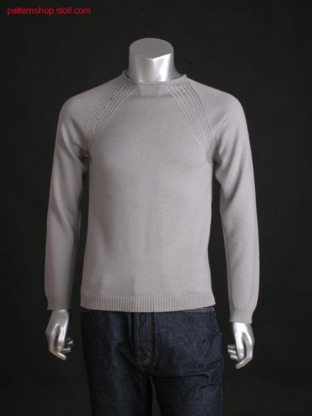 Jersey pullover with 2x2 rib and 2x2 cables / Rechts-Links Pullover mit 2x2 Rippe und 2x2 Z